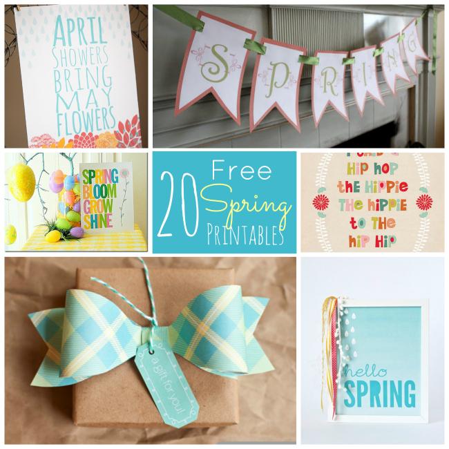 20 Spring Printables