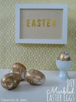 Make Gold and Glitter Marbled Easter Eggs!!