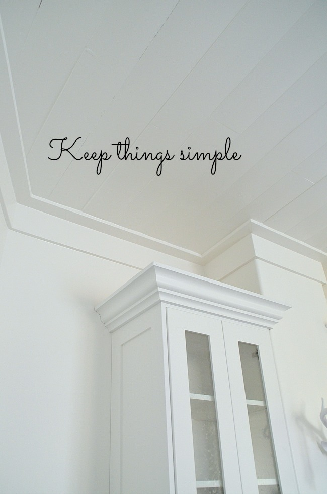 keep things simple