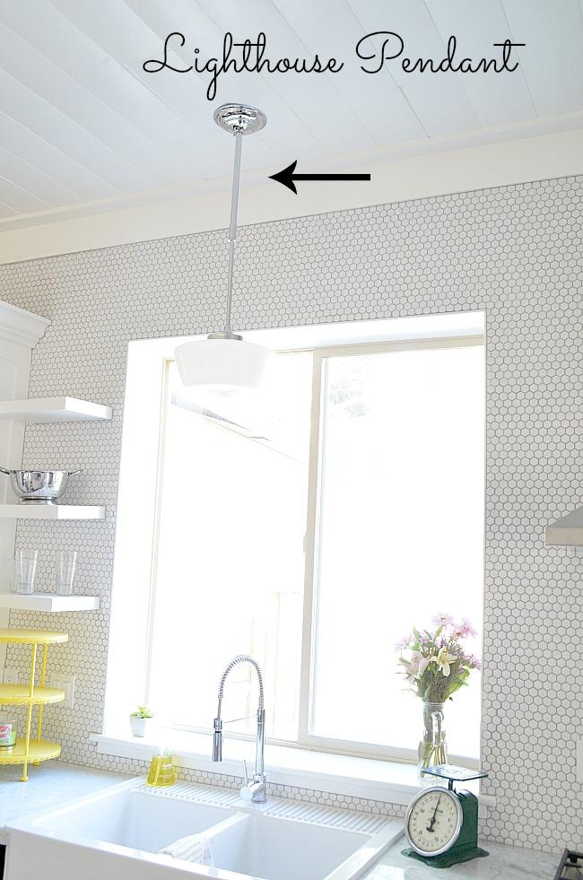 lighthouse pendant light for kitchen remodel