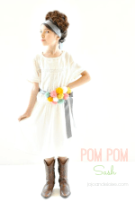 Make a DIY Pom Pom Sash!!