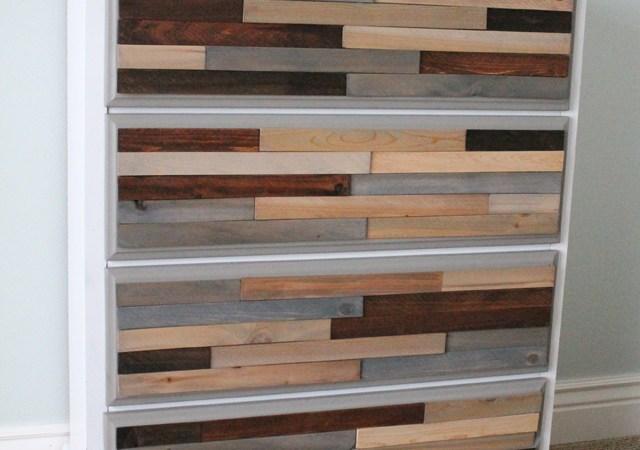 DIY Wood Shim Dresser Tutorial!!