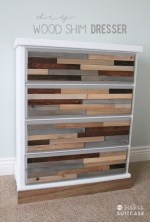 DIY Wood Shim Dresser Tutorial!!