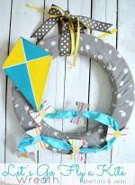 """Let's Go Fly a Kite"" Spring Wreath Tutorial!!"
