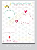 FREE Mother's Day Love Note Printable!!