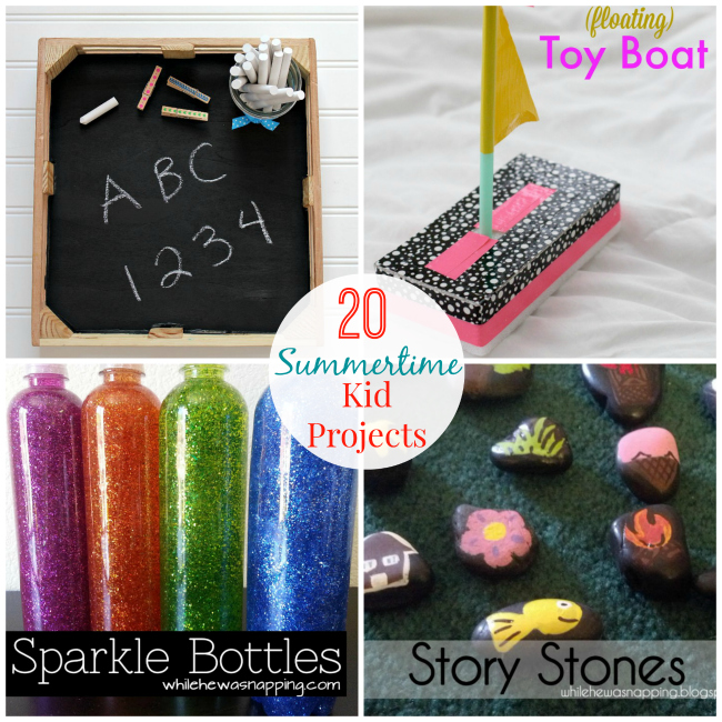 20 projects to keep your kids entertained this Summer! #kidscrafts