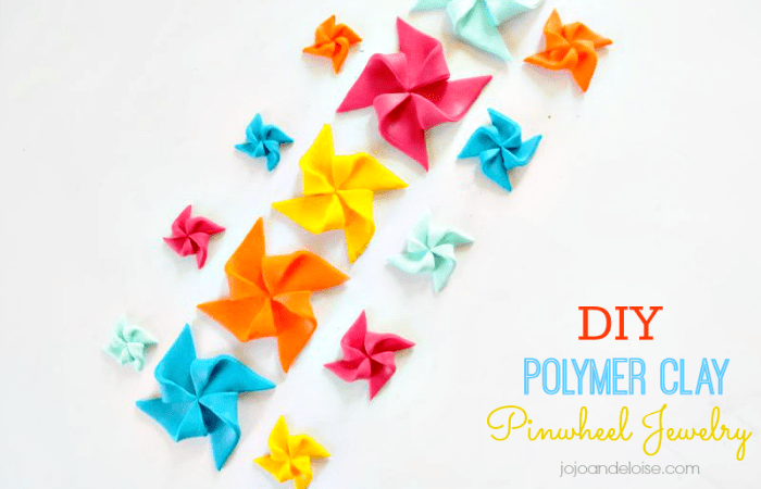 DIY Polymer Clay Pinwheel Jewelry