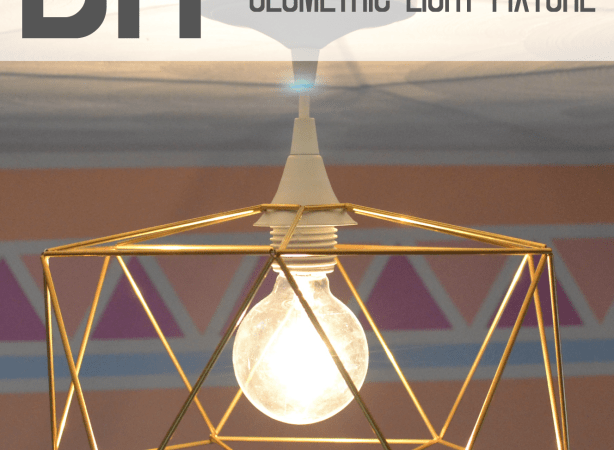 DIY Brass Himmeli Inspired Geometric Light Fixture