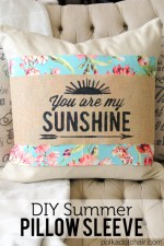 DIY Summer Pillow Sleeve