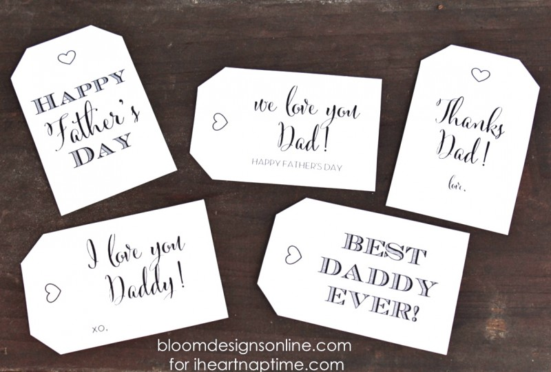 photo about Free Printable Fathers Day Tags titled 16 Uncomplicated Fathers Working day Present Programs and Printables!