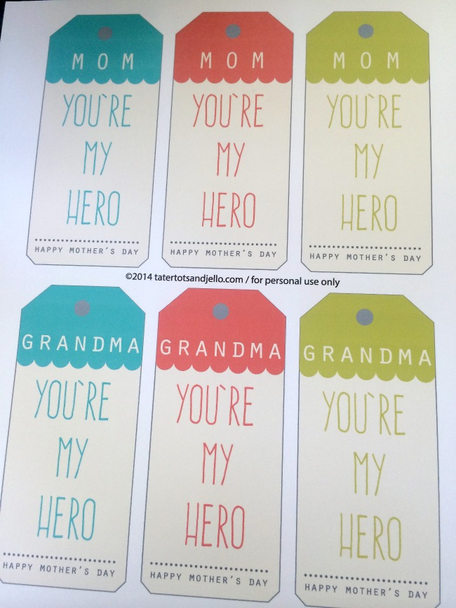 Mother's Day superhero printables
