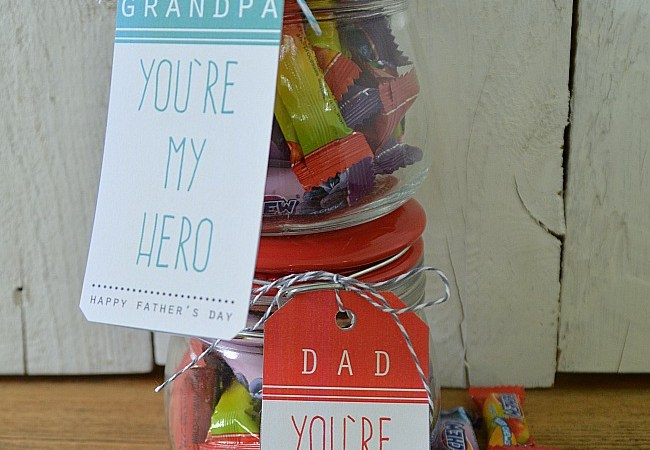 Free Father's Day Printables: Dad & Grandpa Are Superheroes!