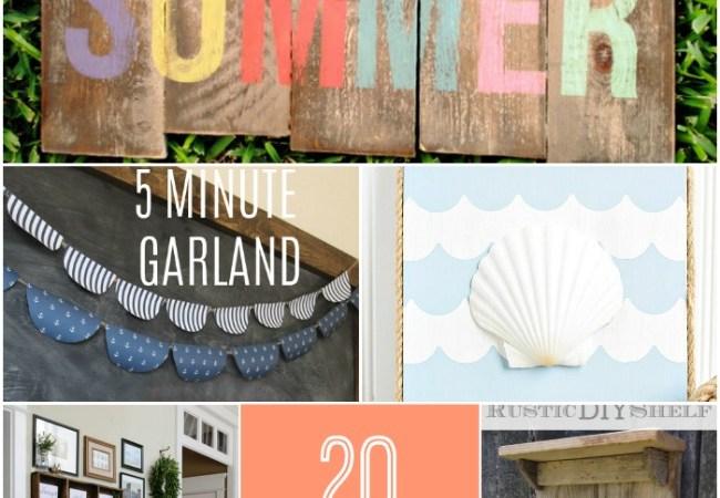 Great Ideas — 20 DIY Wall Decorating Ideas!!