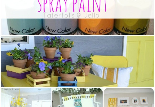 How to Decorate with Spray Paint!!