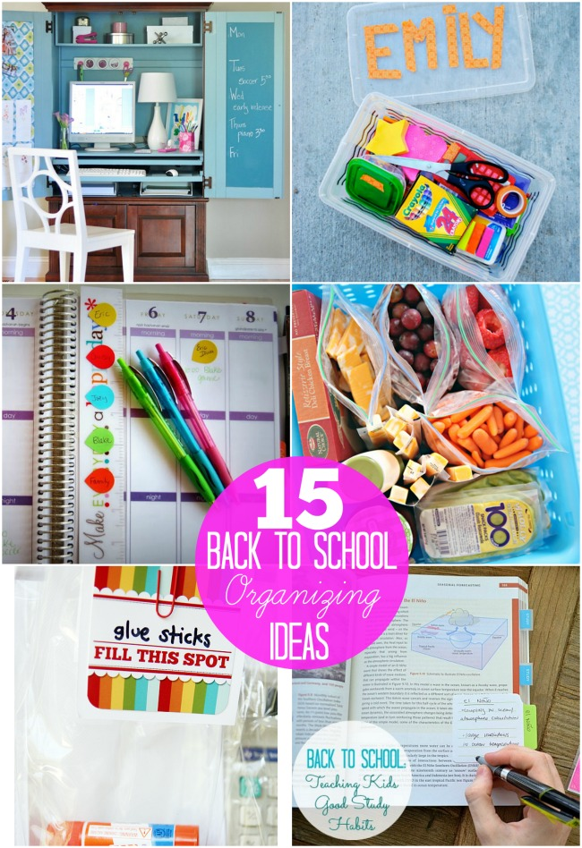 15 back to school organizing ideas at tatertots and jello