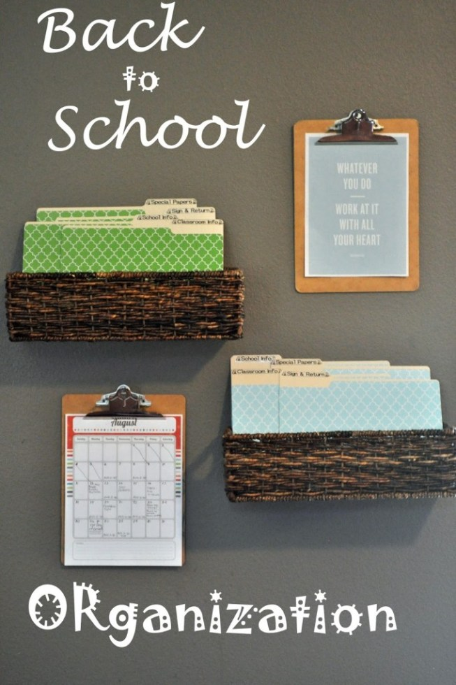 back to school organizing station