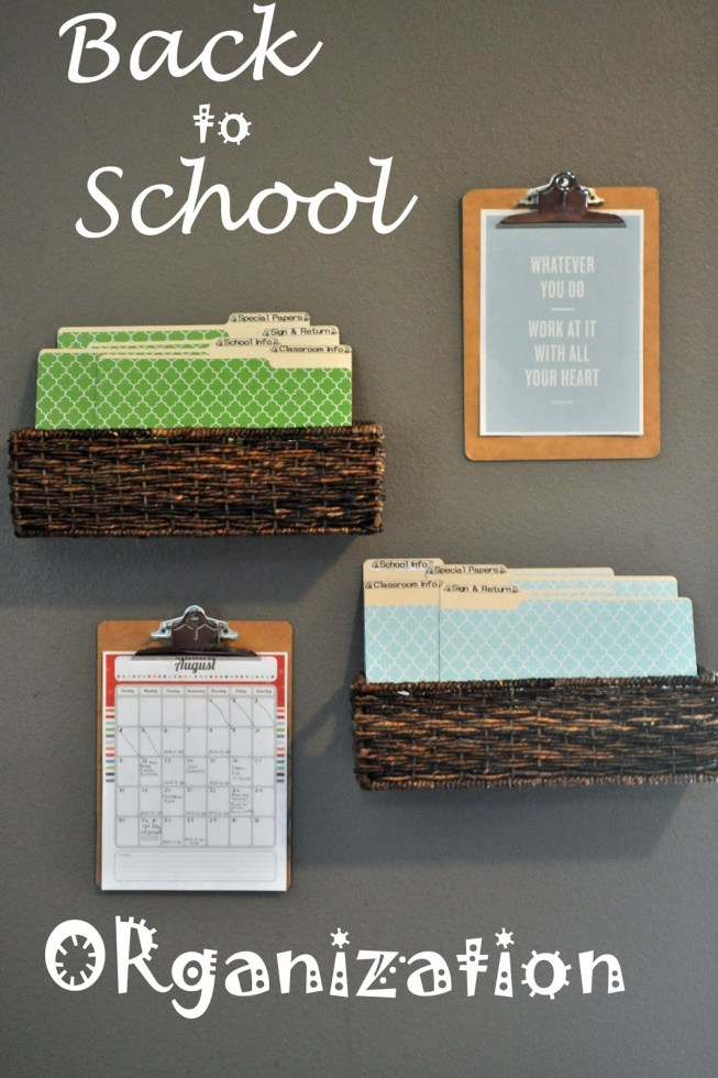 15 back to school organization ideas tatertots and jello - Back to school organization ...