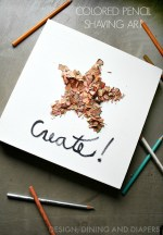 Colored Pencil Shaving Art!