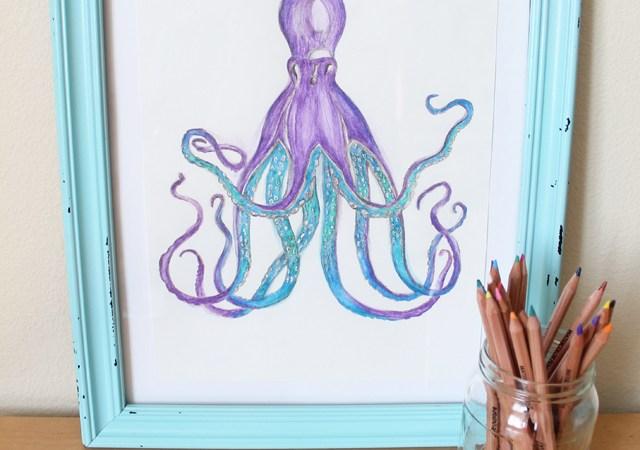 DIY Watercolor Art (The Easy Way)