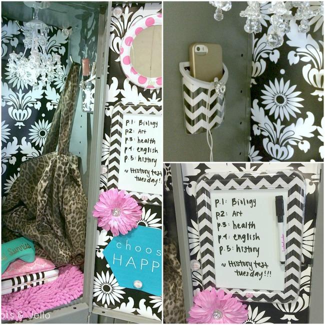 llzlockerlookz black and white locker decorating