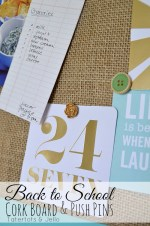 Back to School DIY Burlap Corkboard and Pushpin Tutorial!
