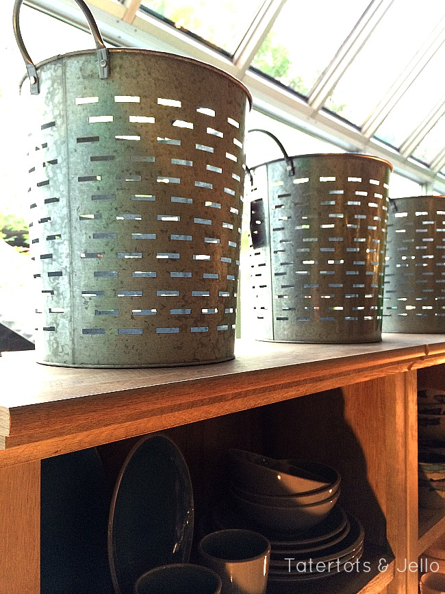 metal galvanized buckets from better homes and gardens