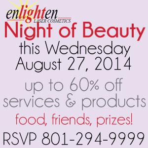 Beauty Night @ Enlighten: Discounts, Prizes, Fun!