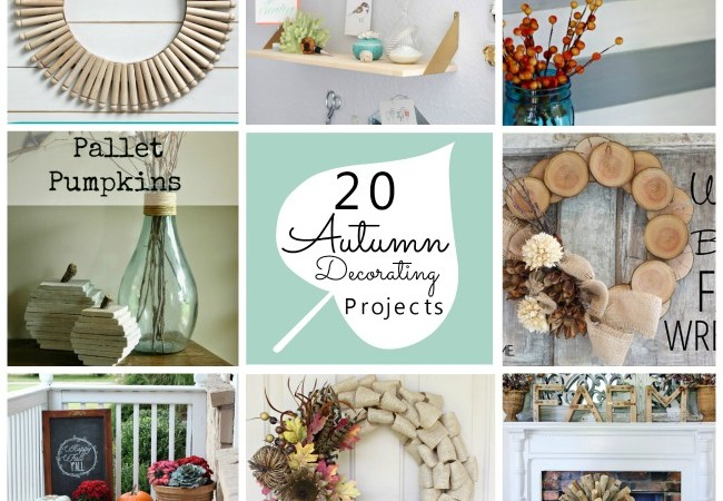 Great Ideas — 20 Autumn Decorating Projects!