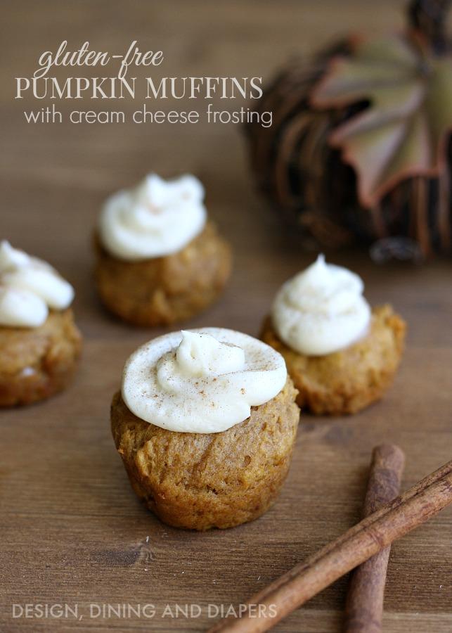 Gluten-Free-Pumpkin-Muffins-With-Cream-Cheese-Frosting-