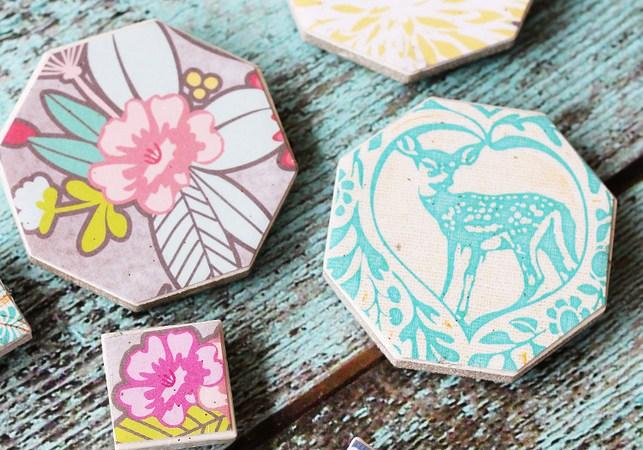 Gift Idea: Easy Decoupaged Tile Magnets!