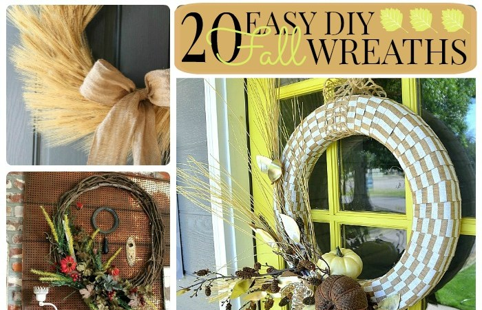 Great Ideas — 20 Easy DIY Fall Wreaths!