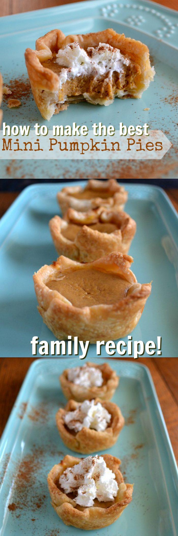 how to make grandma's mini pumpkin pies!