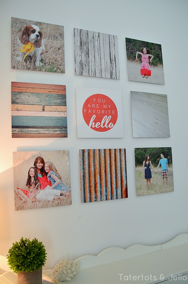 metal gallery wall using shutterfly at tatertots and jello