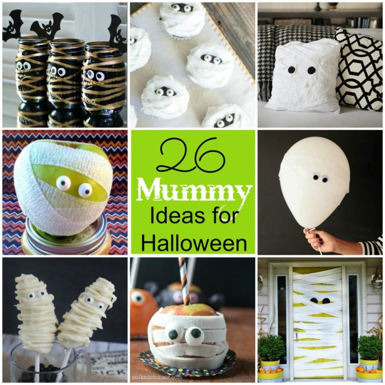 26 Mummy Ideas for Halloween at Tatertots and Jello