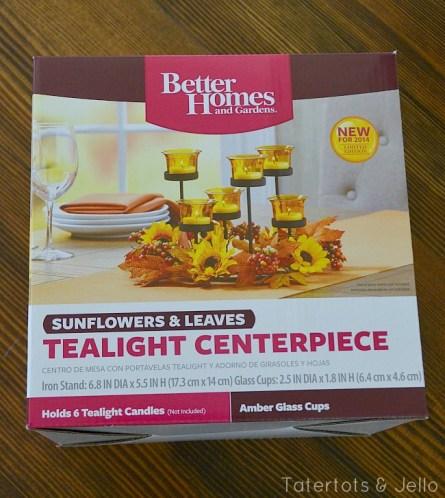better homes and garden tealight centerpiece