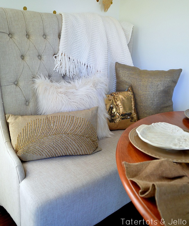 chenile throw and furry pillow from better homes and gardens