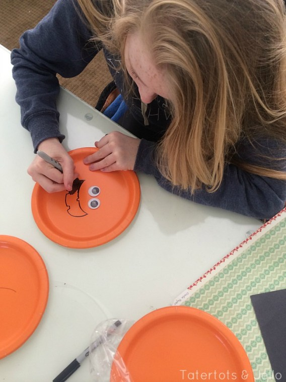 making paper plate masks with kids