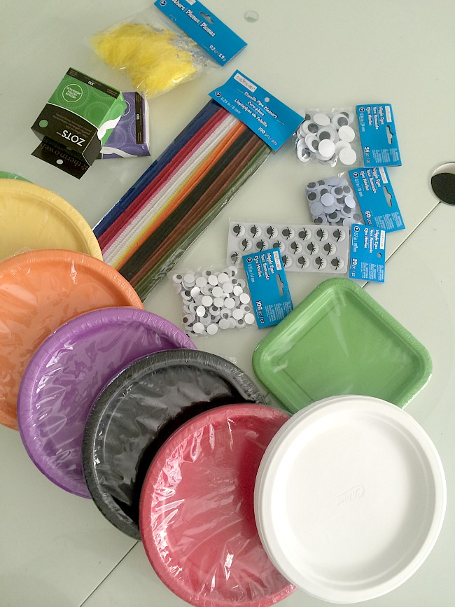 paper plate supplies from michaels & Easy Paper Plate Halloween Masks! - Tatertots and Jello