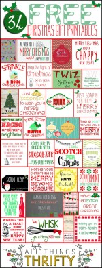 HAPPY Holidays: 34 Free Christmas Gift Tag Printables