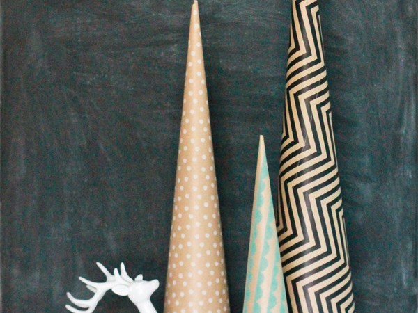 HAPPY Holidays: Paper Wrapped Trees