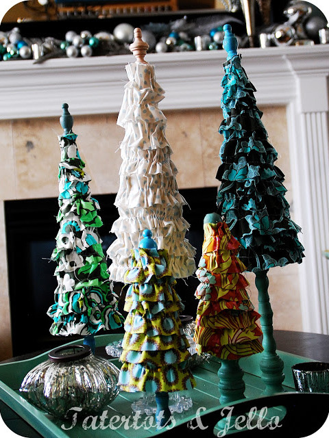 christmas ruffle trees at tatertots and jello