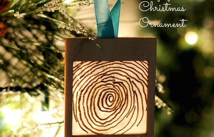 HAPPY Holidays: DIY Fingerprint Christmas Ornament