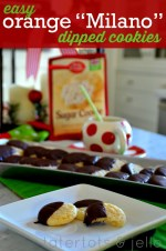 "Easy Orange ""Milano"" Dipped Cookies!"