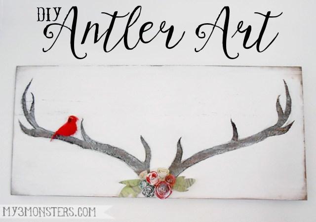 HAPPY Holidays: DIY Antler Art