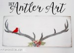 HAPPY Holidays: DIY Antler Art