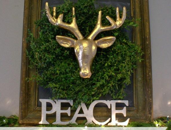 HAPPY Holidays: DIY Gold Deer Head Wreath