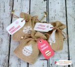 HAPPY Holidays: DIY Stamped Holiday Burlap Gift Bags