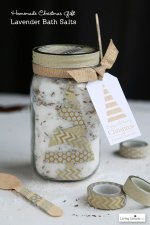 HAPPY Holidays: Lavender Bath Salt Gift in a Jar