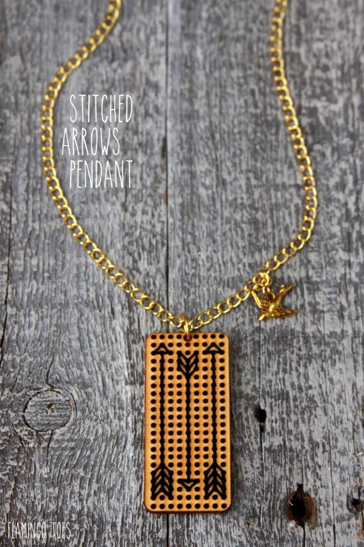 Stitched-Arrows-Pendant
