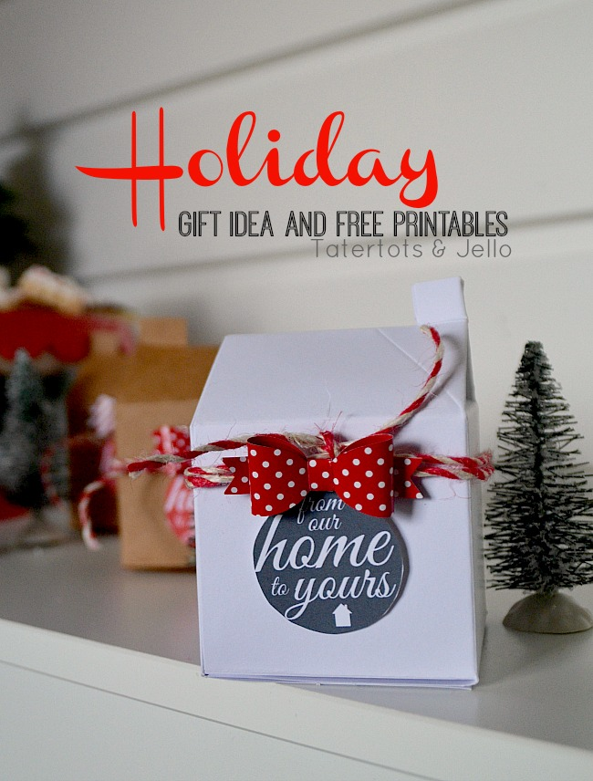 holiday home gift containers and free printables at tatertots and jello